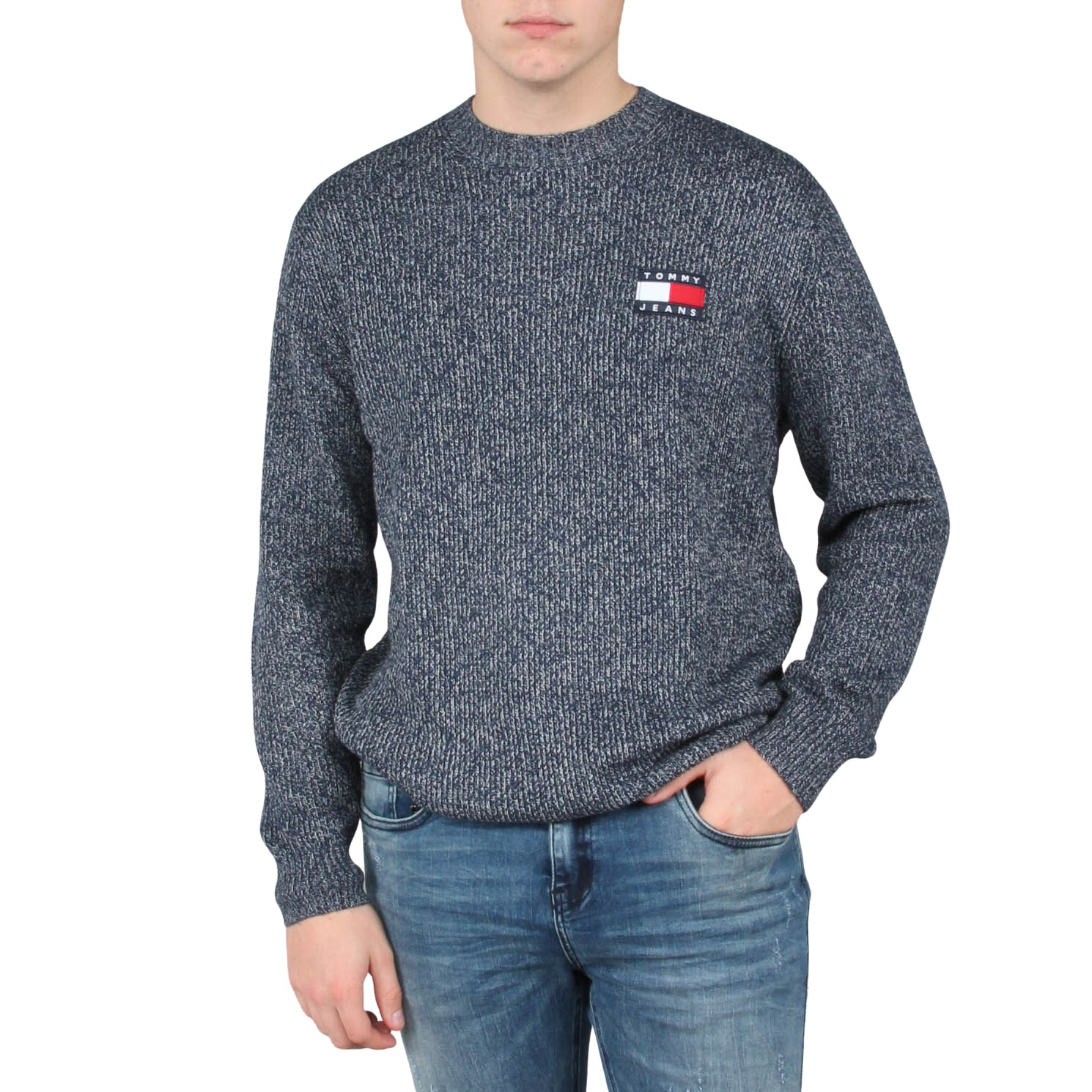 TJM Tommy Badge Texture Sweater