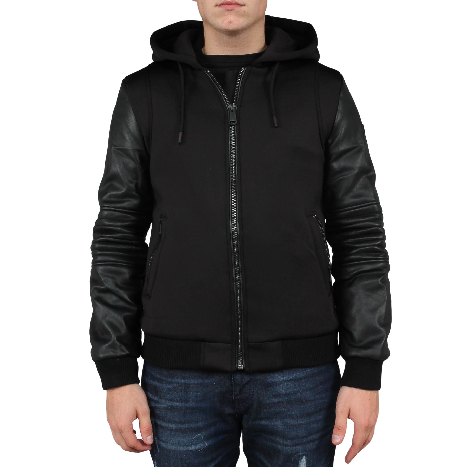 Technical Hoodie Bomber Jacket Guess