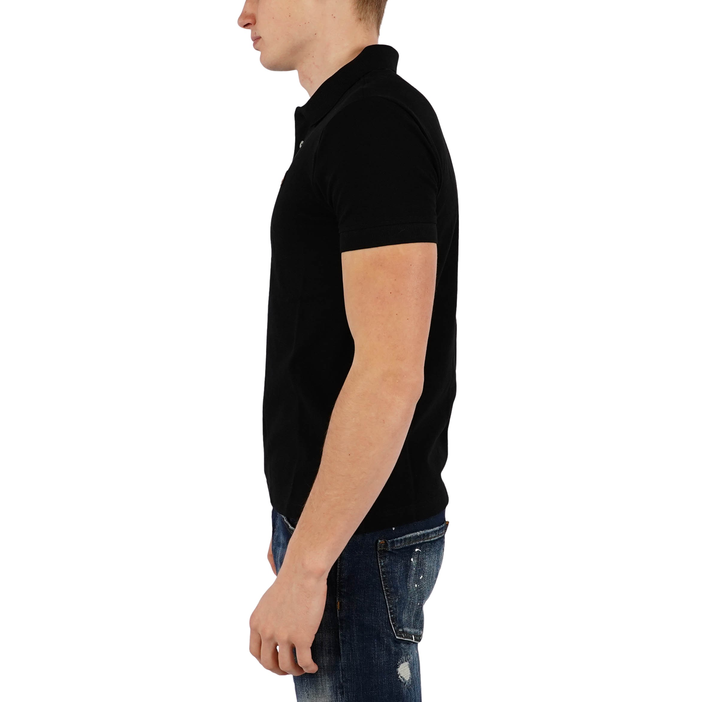 Gold Polo Shirt Black Moose Knuckles