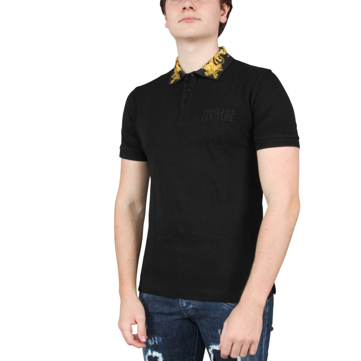 Polo WUP Slim Baroque Pique Versace Jeans Couture