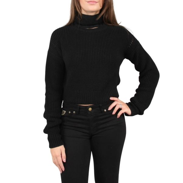 Knit Fashion Turtleneck Open Front
